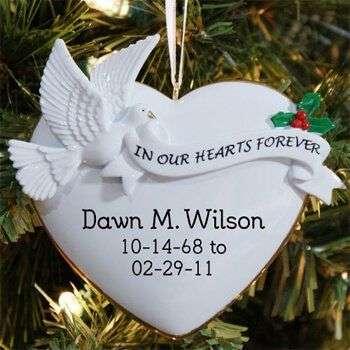 Personalized Heart memorial ornament