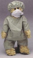 Doctor bear in scrubs