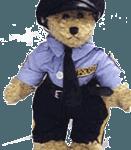 Police teddy bear