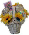 A Sunny Day - Cookies and Sunflowers Gift Basket