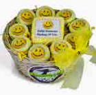 Smiley face cookie gift basket
