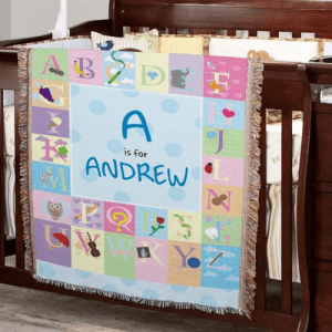 Personalized Baby Blanket for Baby Boy or Girl