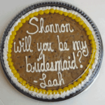 bridesmaid cookie cake