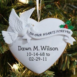 Personalized Heart memorial ornament