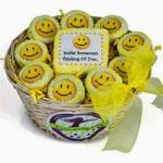 Basket of Smiles cookies