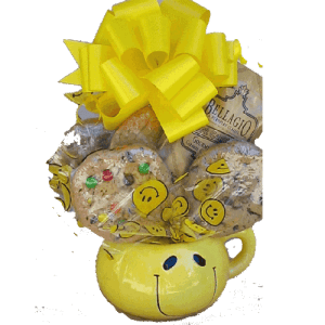 Smiley Face Cookie Bouquet
