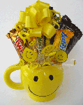 smiley face candy bouquet
