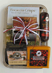 Cheese and sausage gift tray