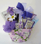 lavender gift basket for lady
