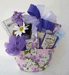 lavender gift basket for lady