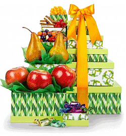 Fruit and Gourmet Gift Tower
