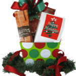 Red and green holiday gift