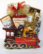 Christmas Train Gift Basket