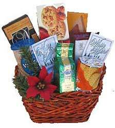 First class holiday gift basket