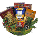 Christmas holiday gift basket