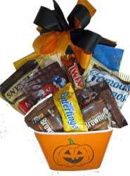 Bowl filled with Halloween treats