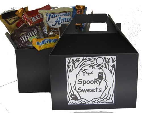 Halloween spooky sweets gift box