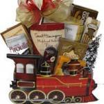Holiday express train gift basket
