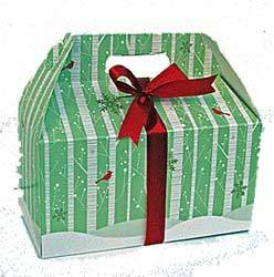 Let it snow gift box filled with holiday treats