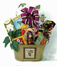 An elegant gourmet gift basket without the wine