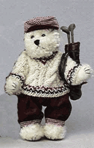 Golfing Teddy bear