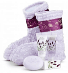 Lavender Booties & Spa Kit