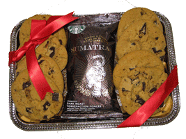 Starbucks coffee and cookies