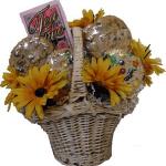 Sunflowers & Cookies Gift Basket