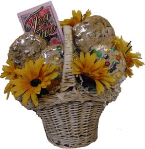 Sunflowers & Cookies Gift Basket