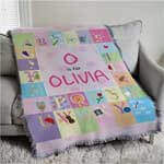 Personalized baby tapestry throw