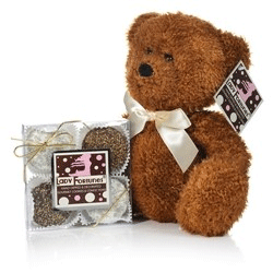 Teddy bear with fortune cookies