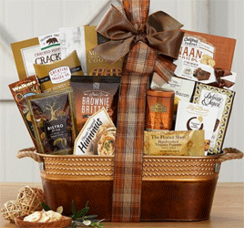 A Gourmet's Delight gift basket for any reason and any season