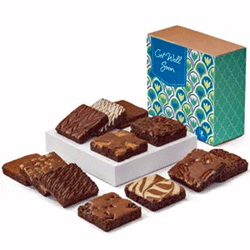 Brownies in Get Well gift box
