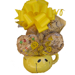 Cookie Bouquet im Smiley Face Mug