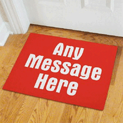 Door Mat personalized with any message
