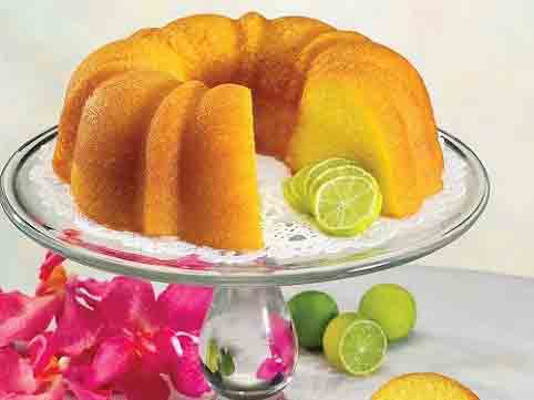Lime tropical bundt cake