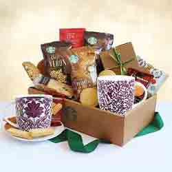 Starbucks Coffee and Cocoa gift basket