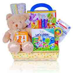 Read with Me baby gift basket