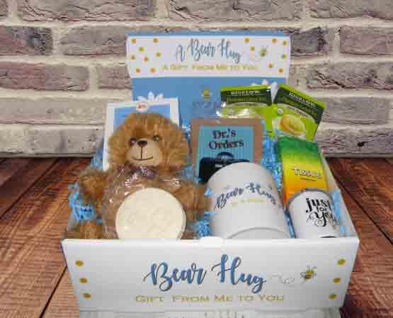Feel better - Get Well - Bear Hug Box