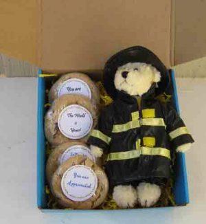 Fireman Teddy  Bear with cookies