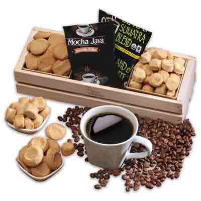 Work from home coffee and snacks gift