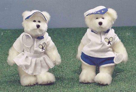 Tennis teddy bears