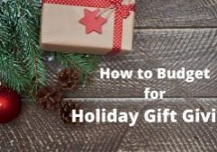 Budget for Holiday Gift Giving